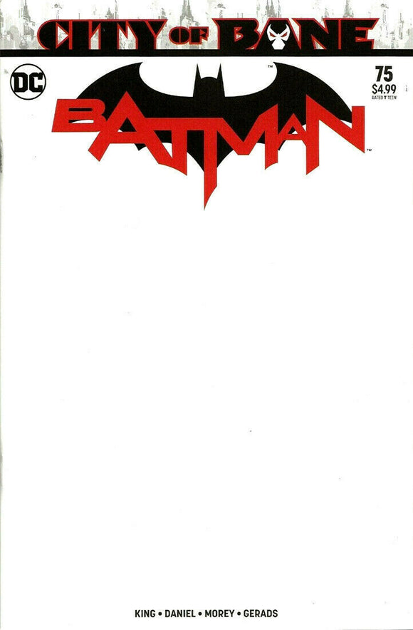 BATMAN #75 Sketch Blank - Mutant Beaver Comics