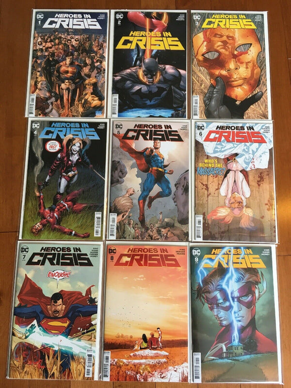 HEROES IN CRISIS Complete Set (#1-#9 Cover B)