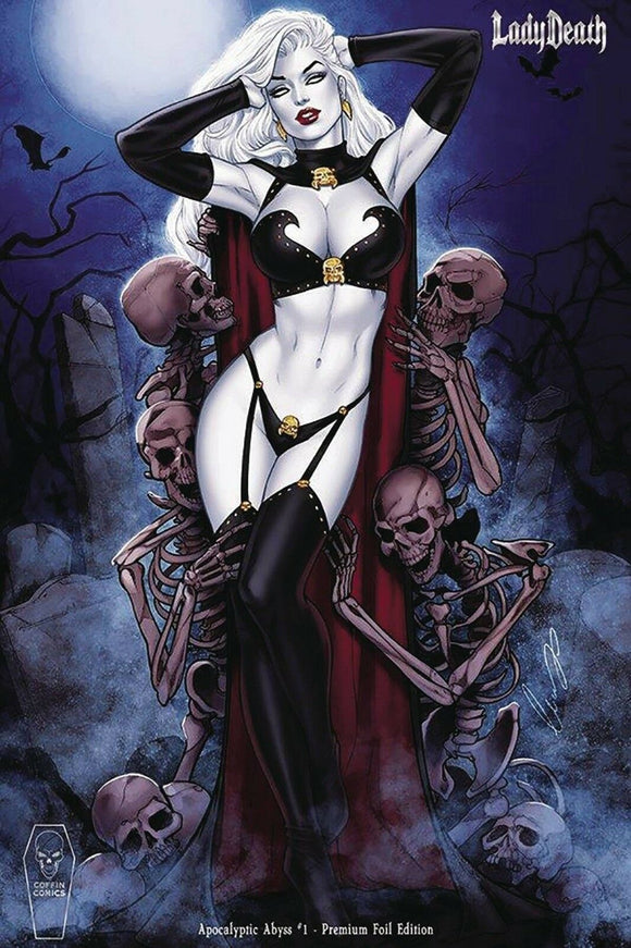 LADY DEATH APOCALYPTIC ABYSS #1 CHATZOUDIS PREMIUM FOIL ***Only 1 Available*** - Mutant Beaver Comics