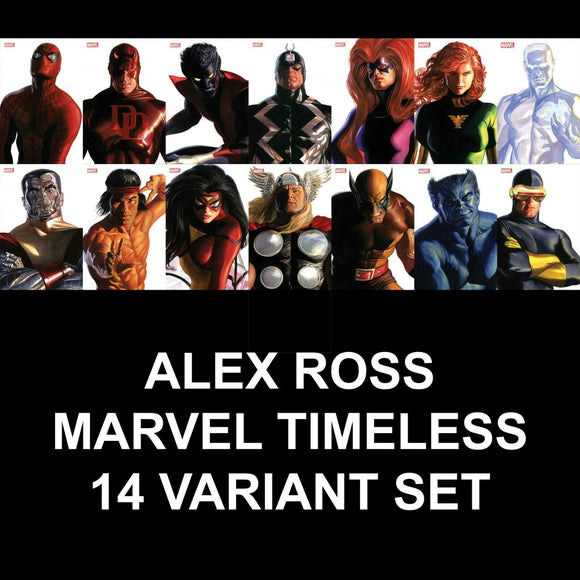 Pre-Order: ALEX ROSS Timeless Variant Set WAVE 2 (Oct 2020) ***14 Books in total*** - Mutant Beaver Comics
