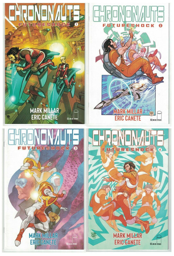 Chrononauts Future Shock #1-#4 Complete Set - Mutant Beaver Comics