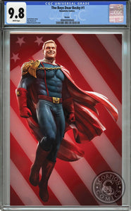 "THE BOYS Dear Becky #1 CGC 9.8 ""4th Of July"" Grassetti Homelander Virgin (Limited to ONLY 56 Made!) #48/56 with COA!"