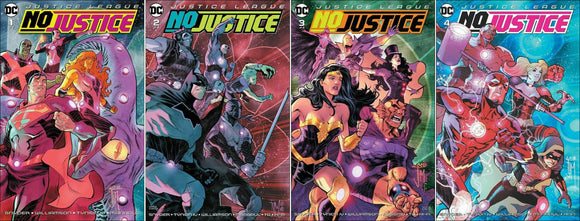 JUSTICE LEAGUE: No Justice #1-#4 Complete Set - Mutant Beaver Comics
