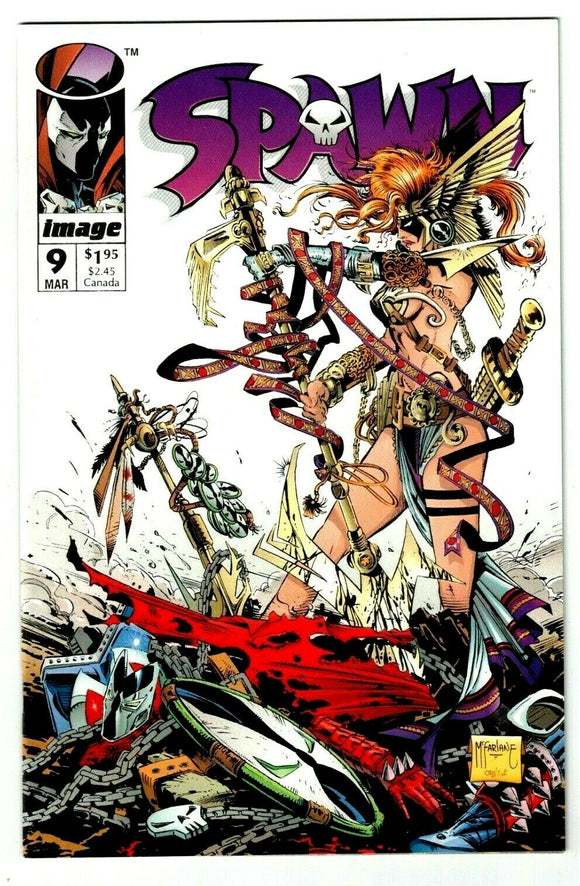 SPAWN #9 Direct Edition (1st app of Angela) - Mutant Beaver Comics