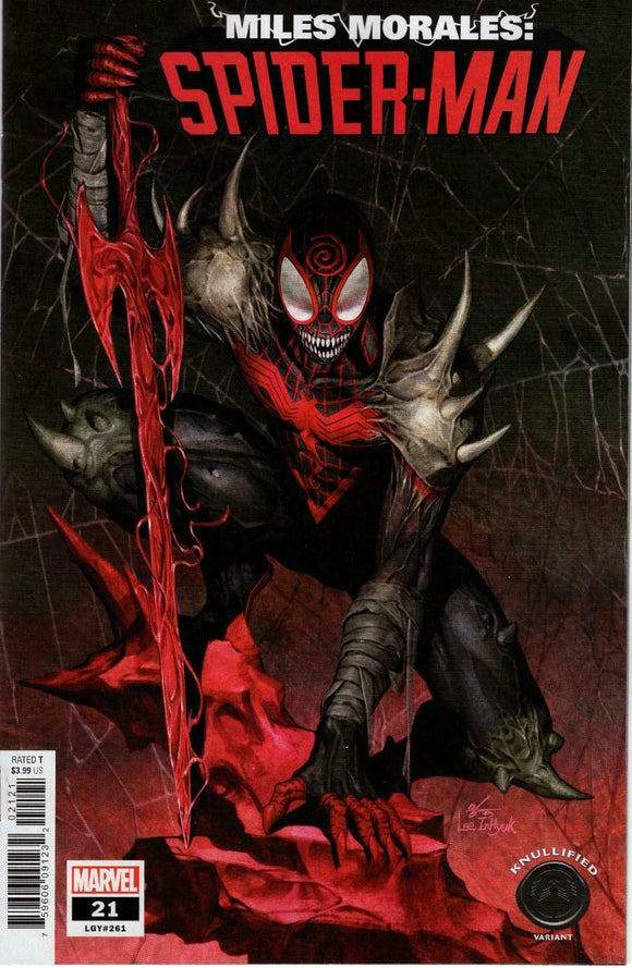 MILES MORALES SPIDER-MAN #21 KNULLIFIED VARIANT INHYUK LEE KING IN BLACK VENOM - Mutant Beaver Comics