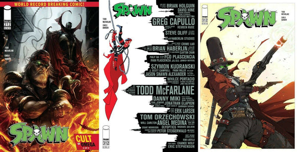 SPAWN #312 COVER A B C VARIANT SET MCFARLANE MATTINA REVOLVER - Mutant Beaver Comics