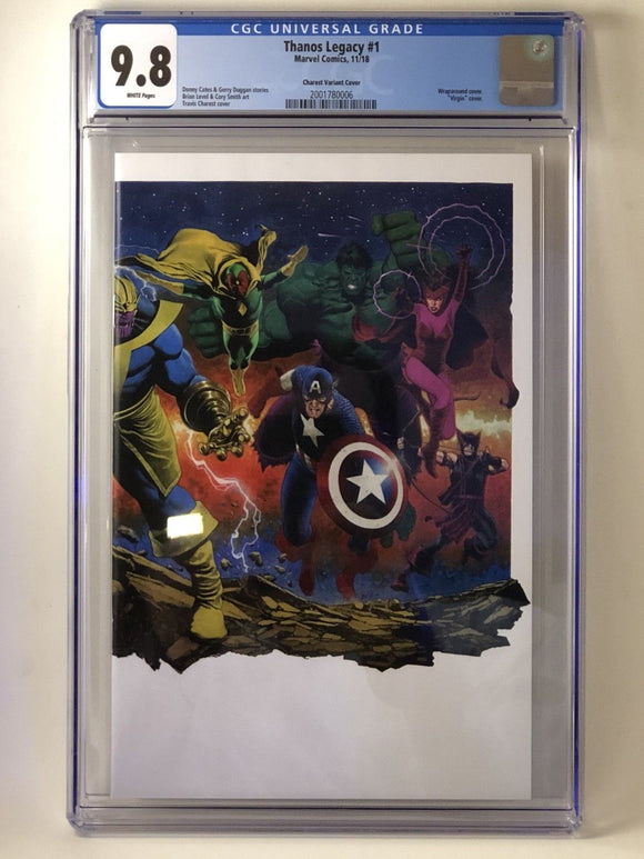 CGC 9.8 THANOS LEGACY #1 Wraparound Cover EXCLUSIVE by Travis Charest! ***IN STOCK!***