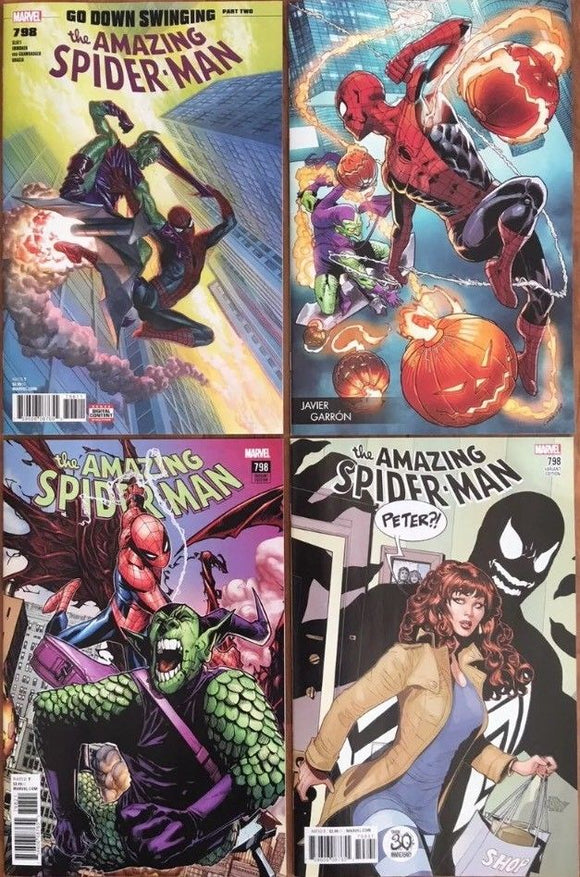 AMAZING SPIDER-MAN #798 RED GOLBIN Complete Set (All 4 Covers!) - Mutant Beaver Comics
