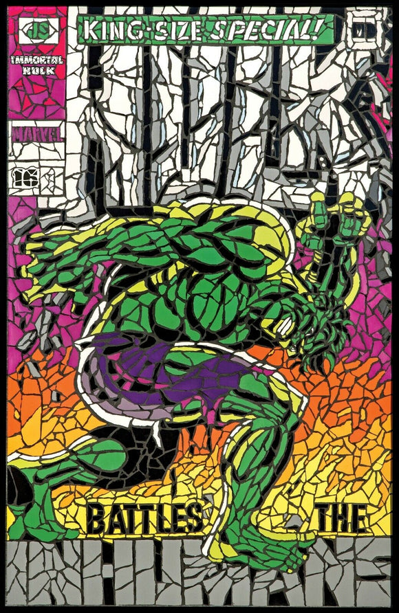 Pre-Order: THE IMMORTAL HULK #16 Shattered Exclusive!! (Matt DiMasi's Tile Mosaic Tribute to Jim Steranko) - Mutant Beaver Comics