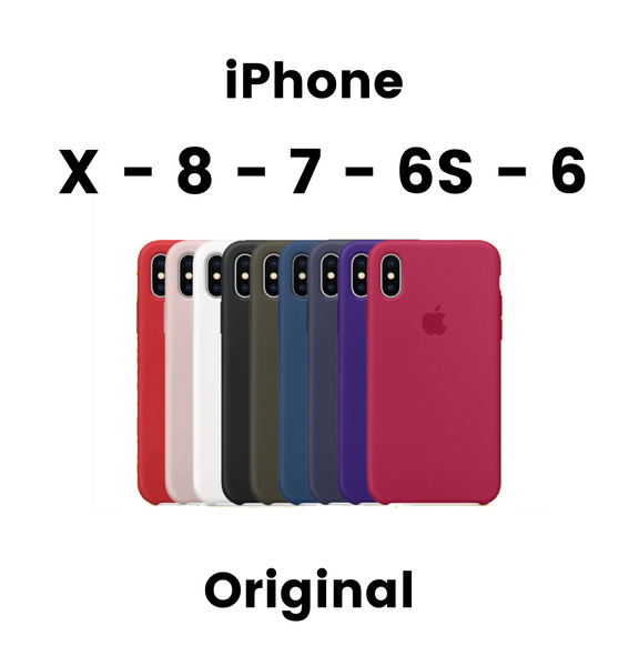 iPhone X - 8 - 7 - 6S - 6 - Original - Quality - Silicone Case - Cover