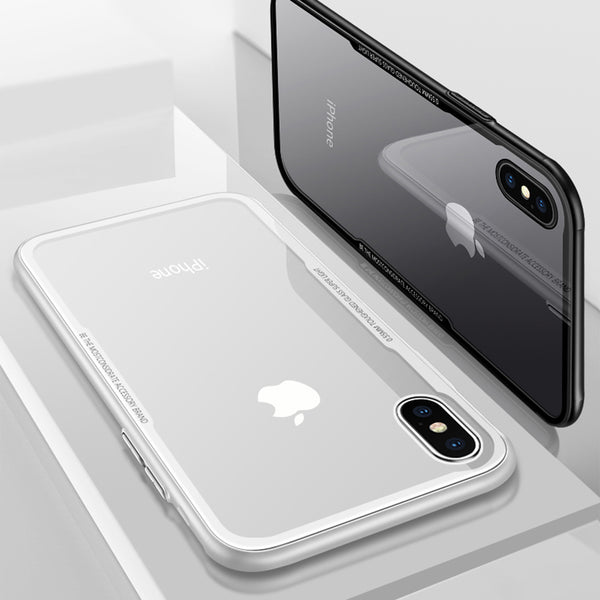 iPhone X - Reinforced - Glass Case - Anti-scratch - Back Case - Transparent - Luxury - Unique - Strong