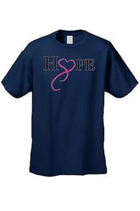 Unisex T Shirt Breast Cancer Awareness Hope & Love