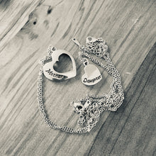 Mother Daughter Heart Set