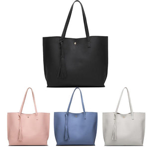Leather Tote - Pink