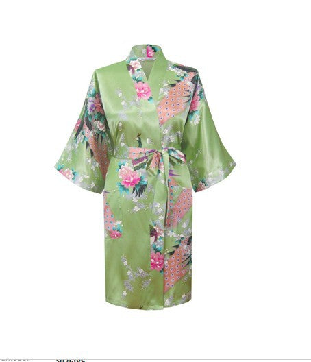 Silk Satin Hospital Gown - Sweet Pea Green