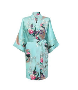 Silk Satin Hospital Gown - Mint