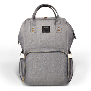 Large Capacity Luxury Nappy Bag - Grey