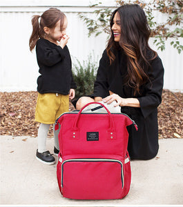 Large Capacity Luxury Nappy Bag - Red