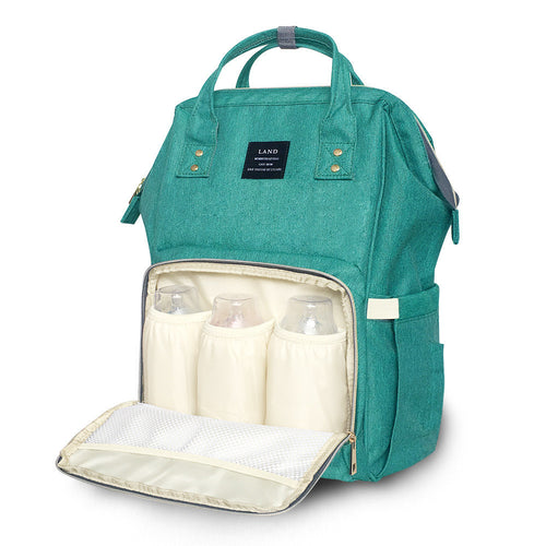 Large Capacity Luxury Nappy Bag - Green