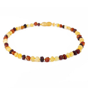 Multicoloured Raw - Baltic Amber Teething Necklace/Bracelet for Baby