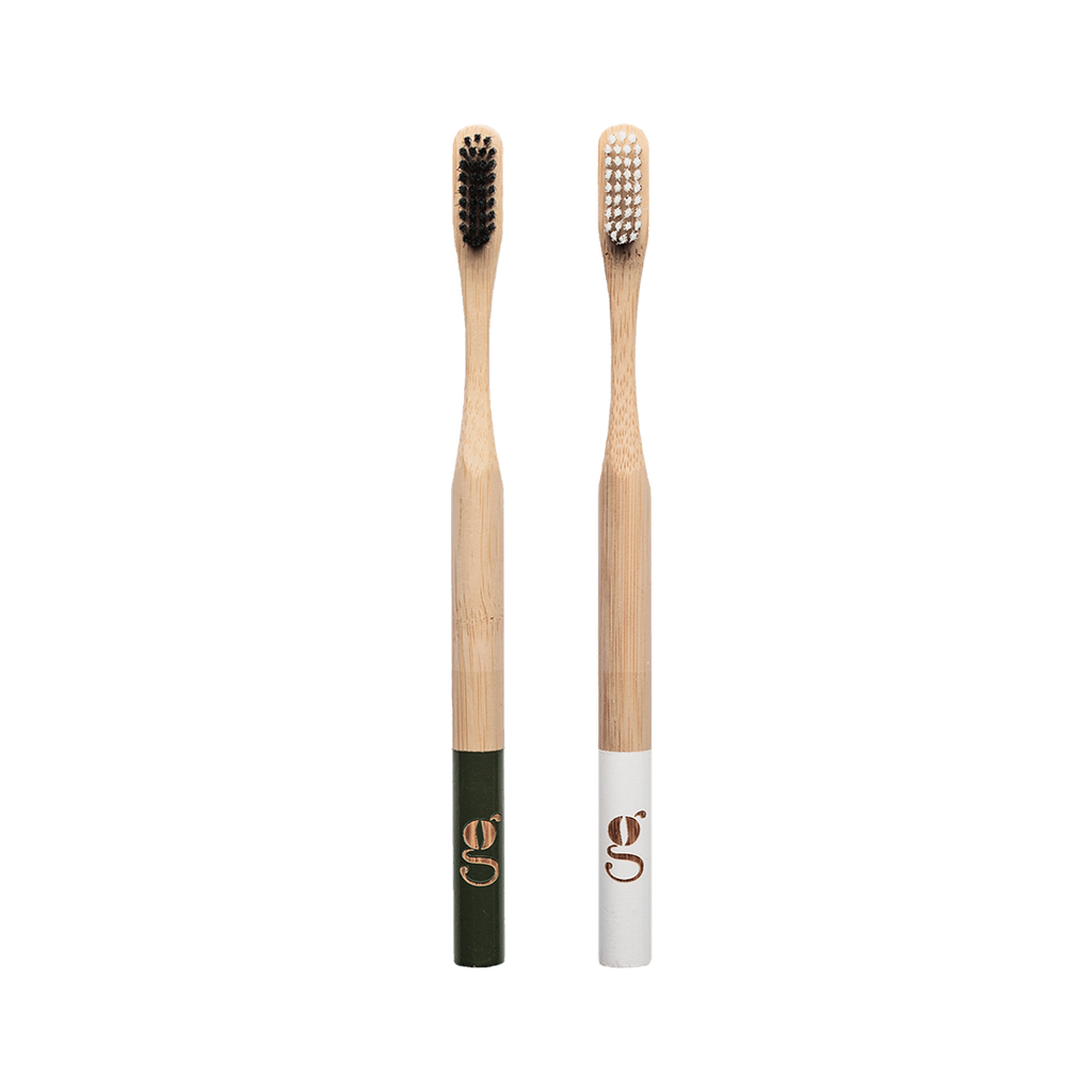 2 pack bamboo toothbrushes
