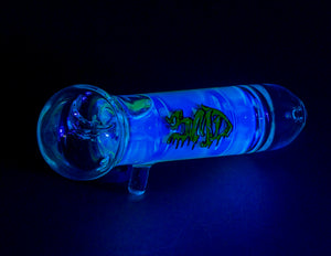 3MD Glycerin Hand Pipe Yellow with Blue UV