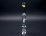 "Solid Glass 14"" straight Tube with Turbine Perc 1250T"
