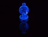 Barry Glass Mini Peak Bubble Carb Cap Blue V