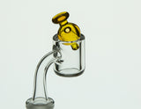 Barry Glass Mini Peak Bubble Carb Cap NS Yellow