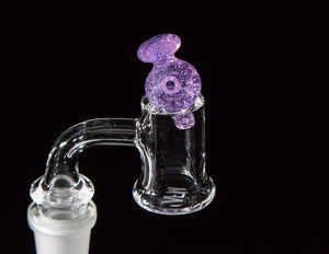 Barry Glass Mini Peak Bubble Carb Cap Purple Lilac