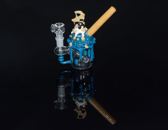 Empire Glassworks Cookie Monster Sundae Nano Rig