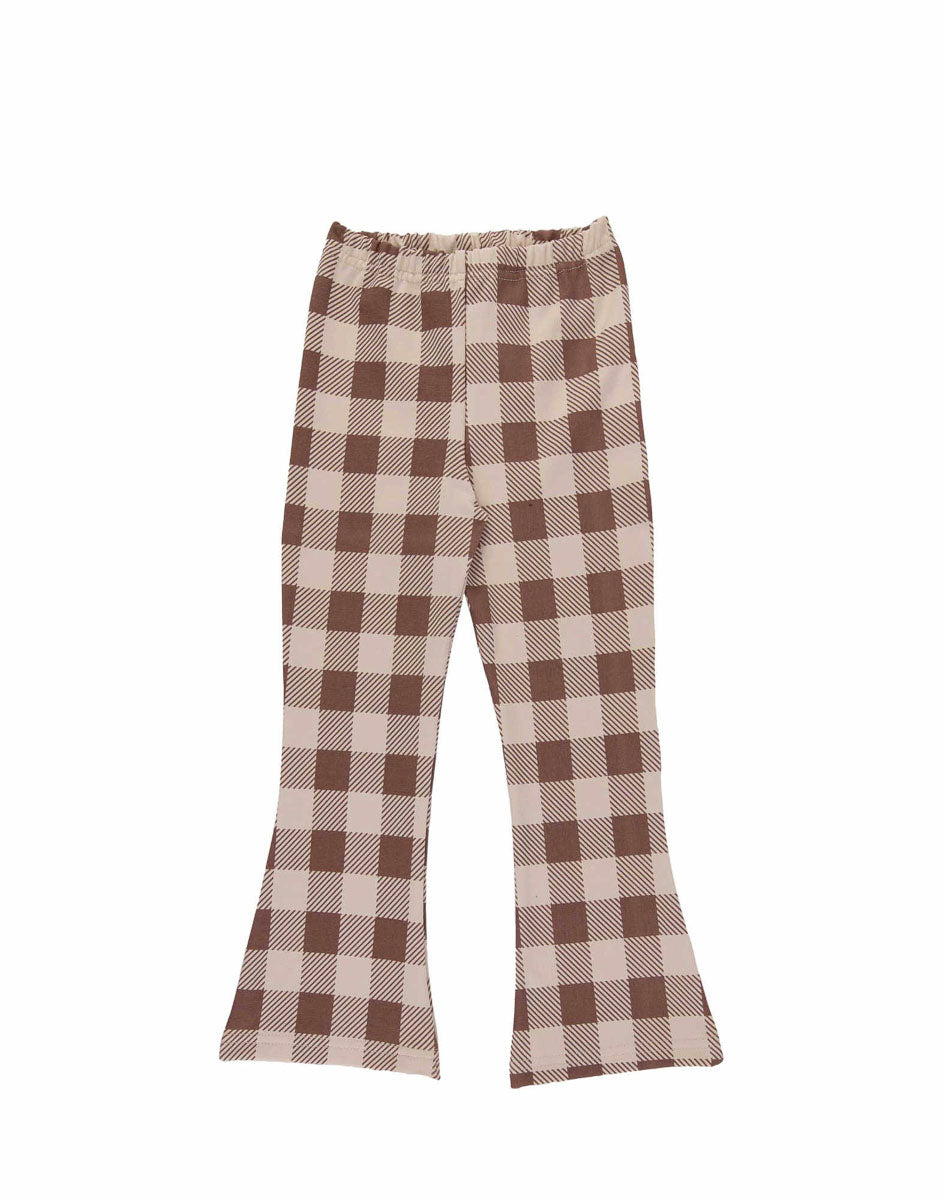 Beige Checker Flares