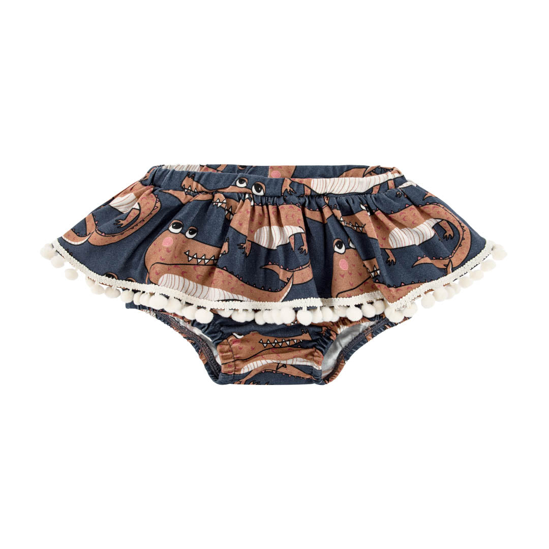 Crocodile Navy Bloomers