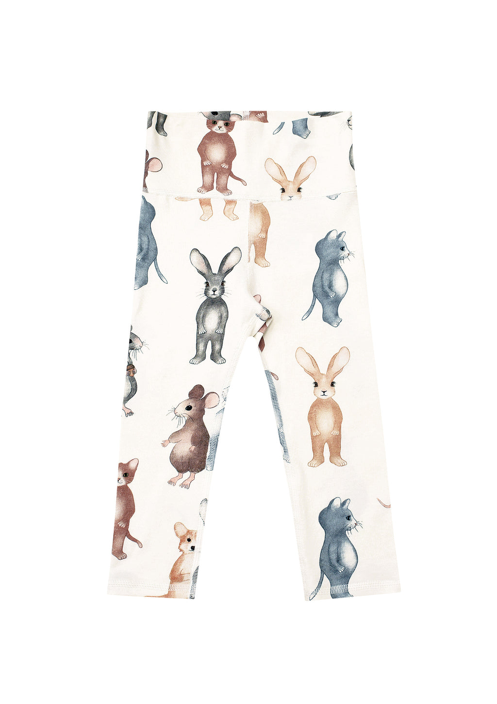 White Animals Baby Leggings