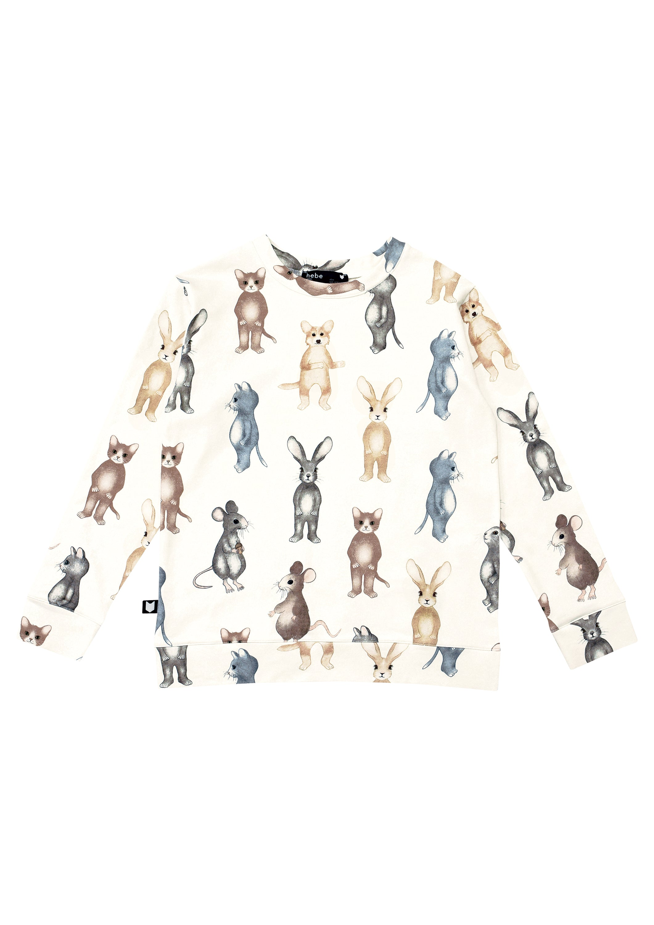 White Animals Sweatshirt