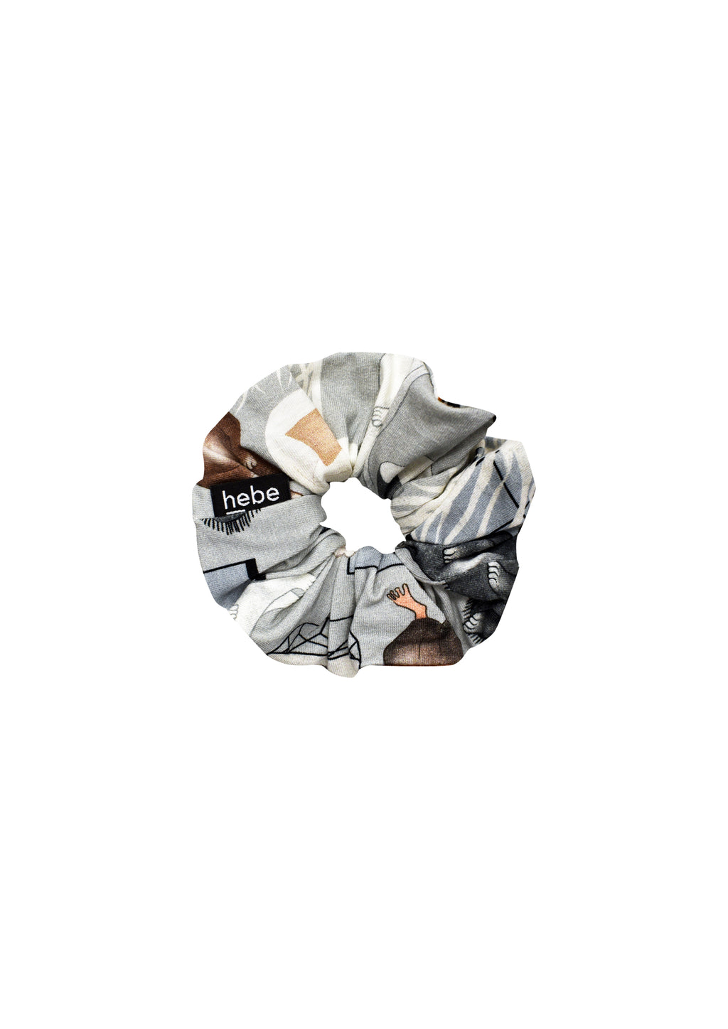 Gray Sweet Home Scrunchie