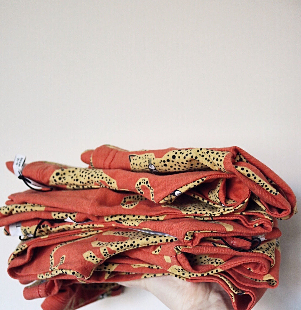 Leopard Leggings ○ Red
