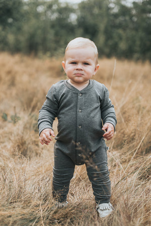 Ash Fleece Romper