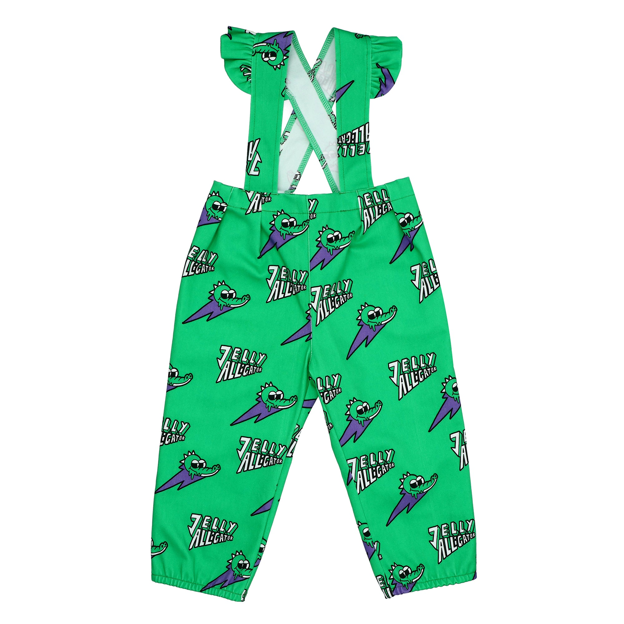 Jelly Alligator Green Dungarees