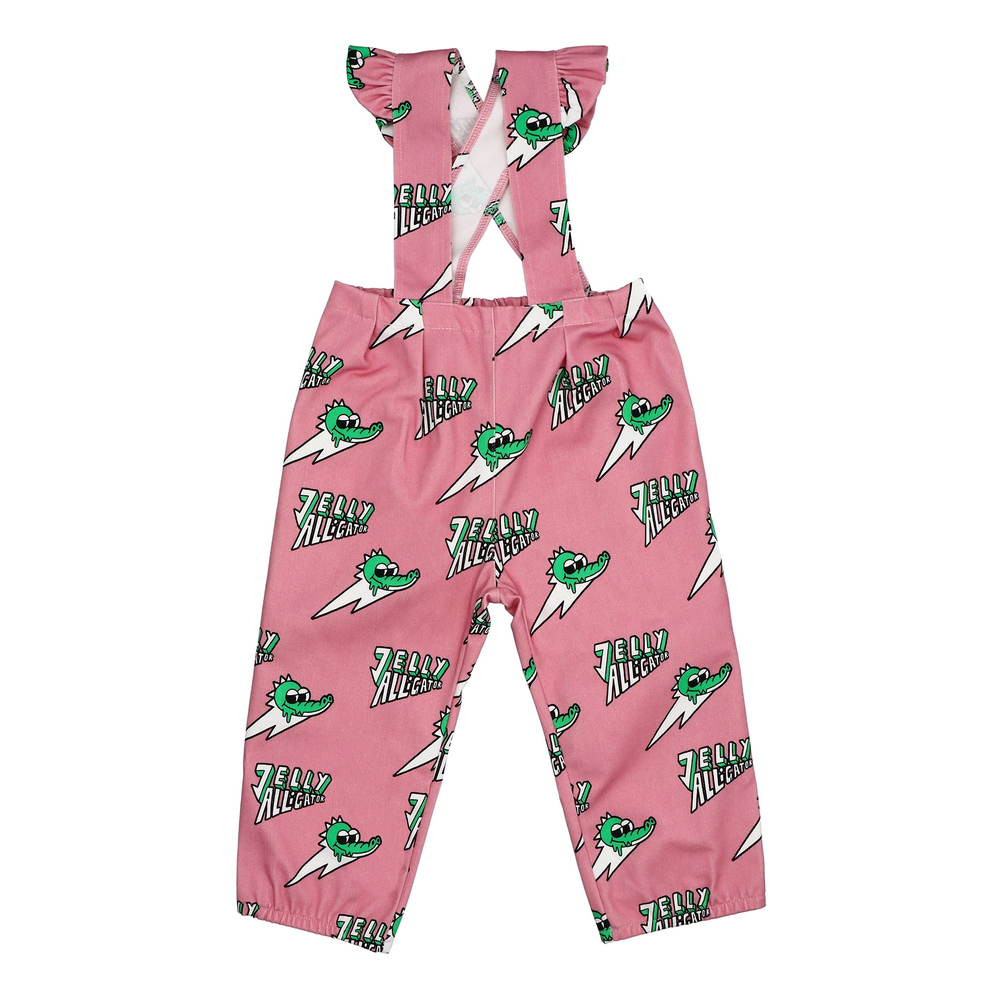 Jelly Alligator Pink Dungarees