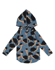 Lord Ostrich Blue Hoodie