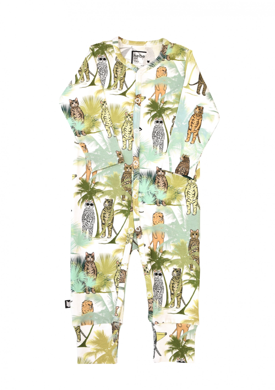Animal Palm Romper