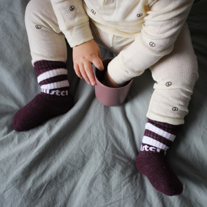 Purple Baby Tube Socks