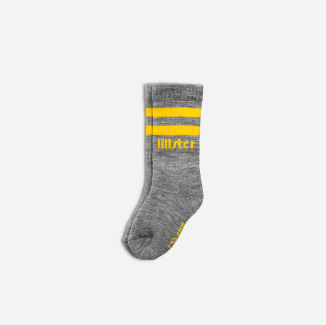 Grey & Yellow Baby Tube Socks