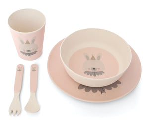 Bamboo Dinner Set - Circus Bunny