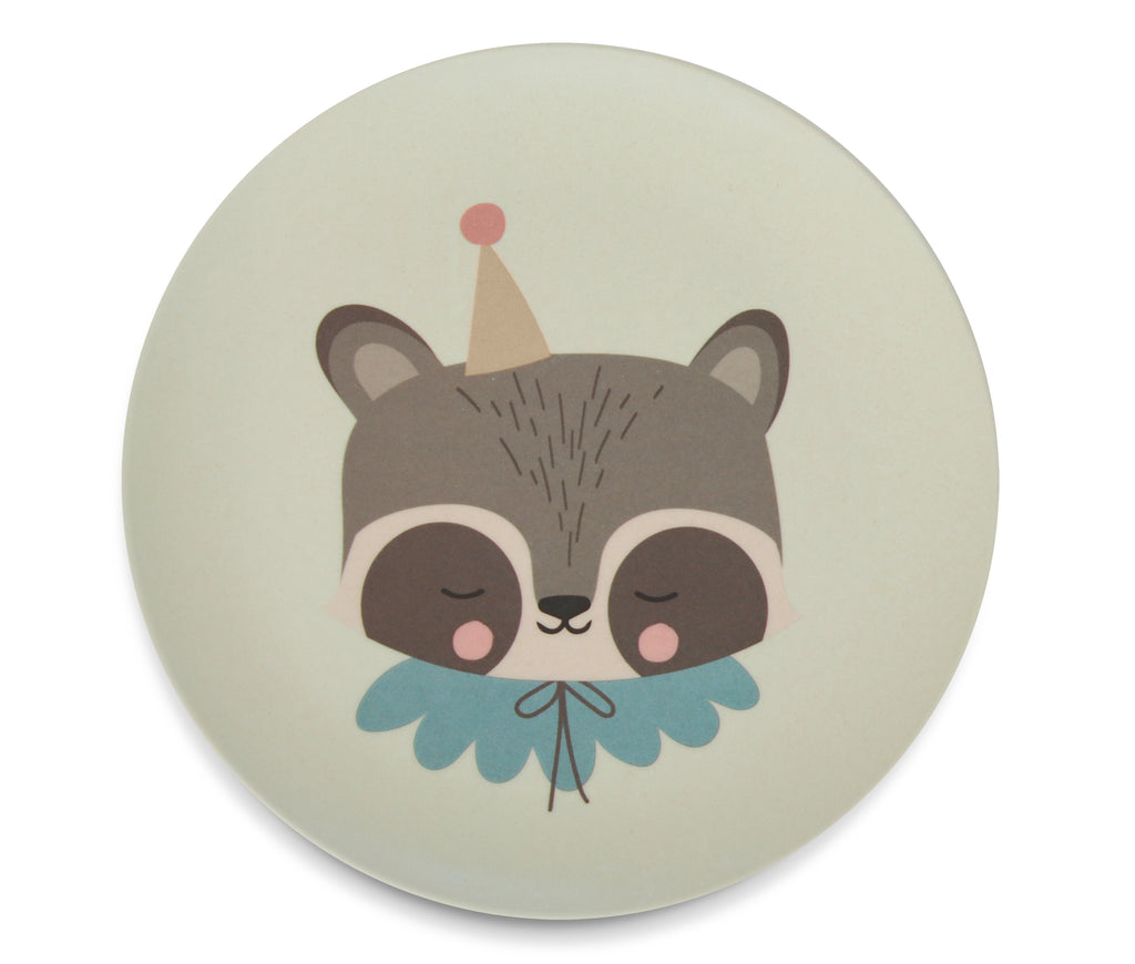 Bamboo Dinner Set - Circus Raccoon