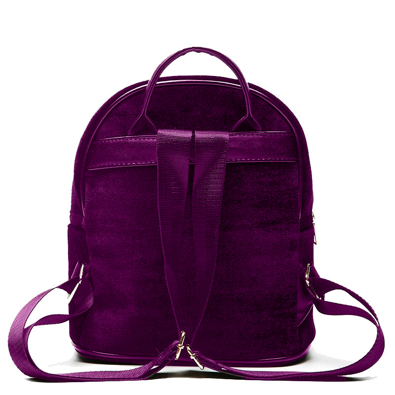 Velvet Backpack in Purple