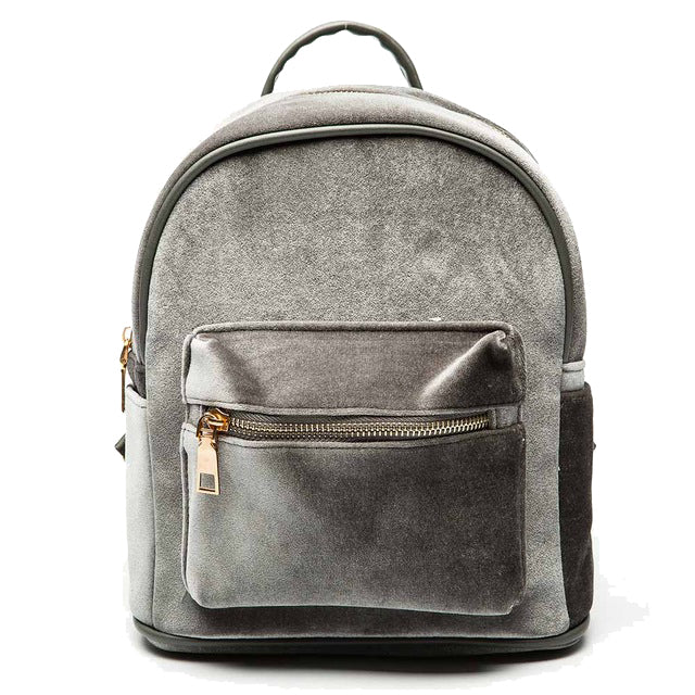 Velvet Backpack in Grey