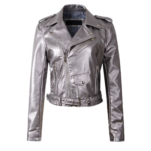 Classic Biker in Metallic Silver