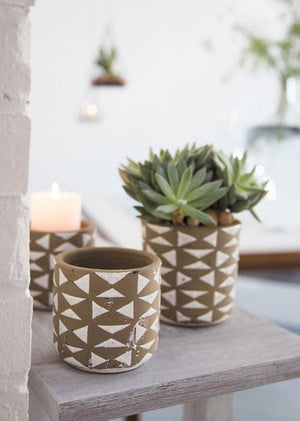 Geometric Ceramic Pot
